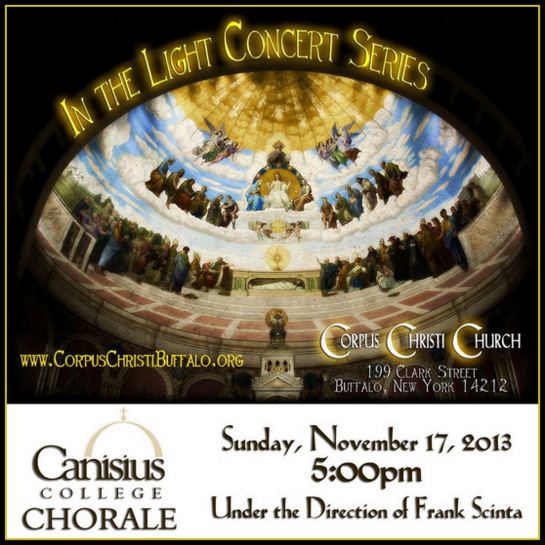 Canisius College Chorale Concert @ Corpus Christi Church | Buffalo | New York | United States