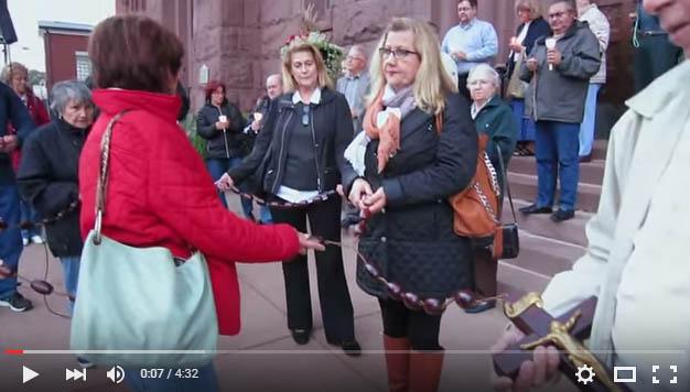 Video: Rosary Procession at Corpus Christi on 10/07/2015